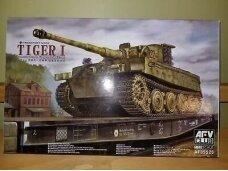 AFV Club - Pz.Kpfw. VI Tiger I Ausf. E Late Version mit Transportkette, 1/35, 35S25