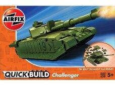 Airfix - QUICK BUILD Challenger Tank Green, J6022