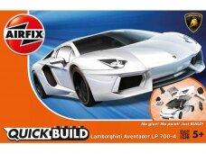 Airfix - QUICK BUILD Lamborghini Aventador white, J6019