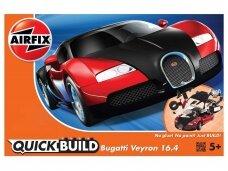 Airfix - QUICKBUILD Bugatti 16.4 Veyron black/red, 6020