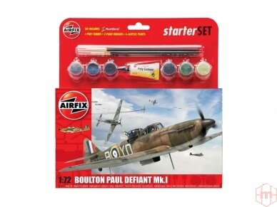 Airfix - Boulton Paul Defiant Mk.I dovanų komplektas, Mastelis: 1/72, 55213