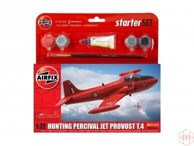 Airfix - Hunting Percival Jet Provost T.4 Model set, Scale: 1/72, 55116