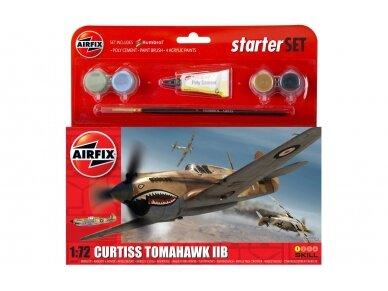 Airfix - Curtiss Tomahawk IIB dovanų komplektas, Mastelis: 1/72, 55101