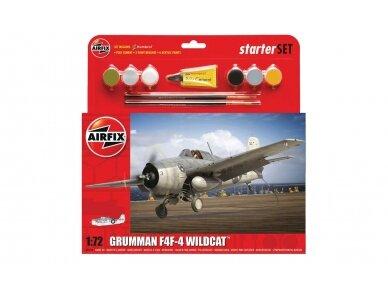 Airfix - Grumman F4F-4 Wildcat Model set, Scale: 1/72, 55214