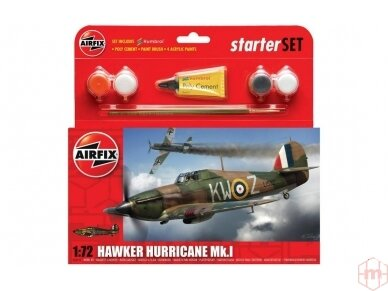 Airfix - Hawker Hurricane MkI dovanų komplektas, Mastelis: 1/72, 55111