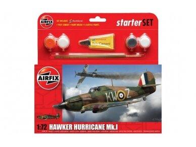 Airfix - Hawker Hurricane MkI Model set, Scale: 1/72, 55111