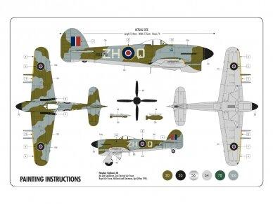 Airfix - Hawker Typhoon Ib dovanų komplektas, Mastelis: 1/72, 55208 3
