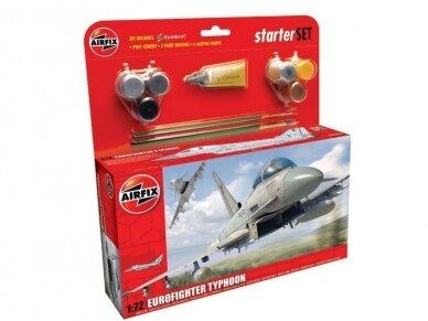 Airfix - Eurofighter Typhoon dovanų komplektas, Mastelis: 1/72, 50098
