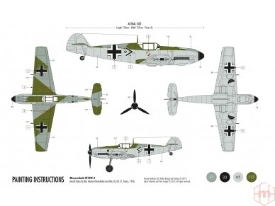 Airfix - Messerschmitt Bf109E-3 dovanų komplektas, Mastelis: 1/72, 55106 2