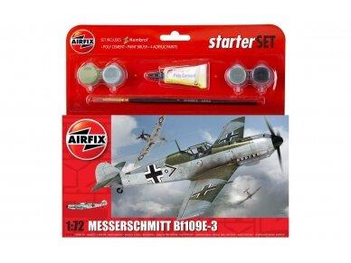 Airfix - Messerschmitt Bf109E-3 dovanų komplektas, Mastelis: 1/72, 55106