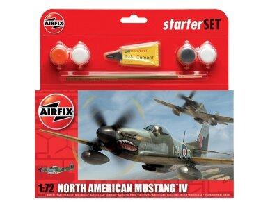 Airfix - P-51D Mustang dovanų komplektas, Mastelis: 1/72, 55107