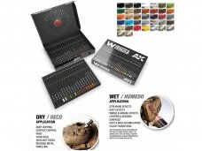 AK Interactive - Weathering Pencils: Deluxe Edition Box 37 Watercolor Pencils, AAK10047