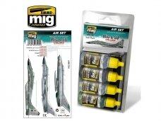 AMMO MIG - MiG & SU COLORS Grey & Green Fighters. AMIG7204