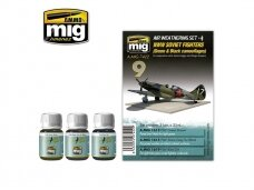 AMMO MIG - WW II SOVIET AIRPLANES (Green & Black camouflages). AMIG7422