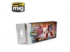AMMO MIG - METALLIC MECHAS COLOR SET. AMIG7158
