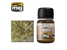 AMMO MIG - BROWN WASH FOR GERMAN DARK YELLOW, 35ml, 1000