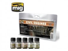 AMMO MIG - CIVIL ENGINES WEATHERING SET. AMIG7146