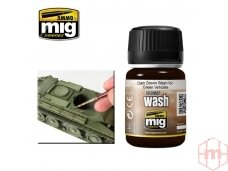 AMMO MIG - DARK BROWN WASH FOR GREEN VEHICLES, 35ml, 1005