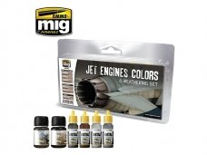 AMMO MIG - JET ENGINES COLORS AND WEATHERING SET. AMIG7445