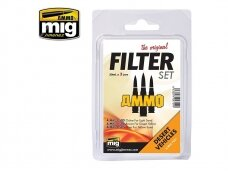 AMMO MIG - FILTER SET FOR DESERT VEHICLES. AMIG7451