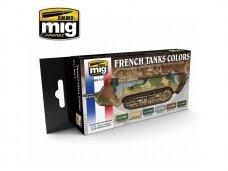 AMMO MIG - WW I & WW II FRENCH CAMOUFLAGE COLORS. AMIG7110