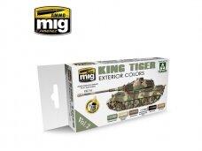 AMMO MIG - KING TIGER EXTERIOR COLOR (SPECIAL TAKOM EDITION) VOL.2. AMIG7166