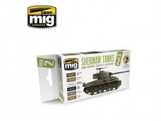 AMMO MIG - Set Sherman Tanks Vol. 2 (WWII European Theater of Operations). AMIG7170