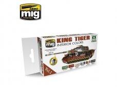 AMMO MIG - KING TIGER INTERIOR COLOR (SPECIAL TAKOM EDITION) VOL.1. AMIG7165