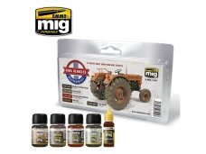 AMMO MIG - CIVIL VEHICLES WEATHERING SET. AMIG7145