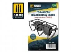AMMO MIG - T54/55/62 headlights & guard, Mastelis: 1/35, 8086