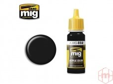 AMMO MIG - SATIN BLACK, 17ml. 0032