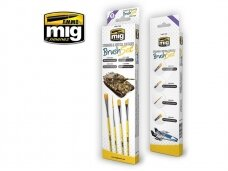 AMMO MIG - STREAKING AND VERTICAL SURFACES BRUSH SET. AMIG7604