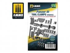 AMMO MIG - Panzer III tool clamps universal, Scale: 1/35, 8087