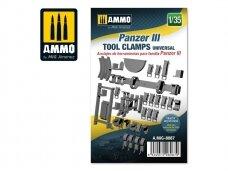AMMO MIG - Panzer III tool clamps universal, Mastelis: 1/35, 8087