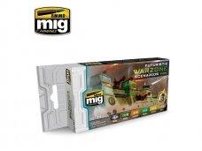 AMMO MIG - FUTURISTIC WARZONE SCENARIOS COLOR SET. AMIG7154