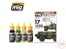 AMMO MIG - MODERN FRENCH ARMED FORCES COLORS. AMIG7151