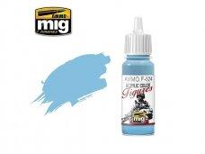 AMMO MIG - Akriliniai dažai figūrėlėms LIGHT SKY BLUE, 17ml. F524