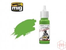 AMMO MIG - Akriliniai dažai figūrėlėms PURE GREEN, 17ml. F528