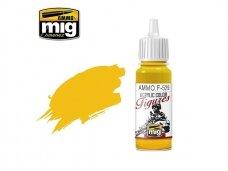 AMMO MIG - Akriliniai dažai figūrėlėms PURE YELLOW, 17ml. F529