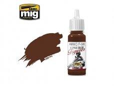 AMMO MIG - Akriliniai dažai figūrėlėms BROWN BASE FS-30108, 17ml. F508