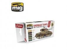 AMMO MIG - Set Sherman Tanks Vol. 1 (WWII Commonwealth). AMIG7169