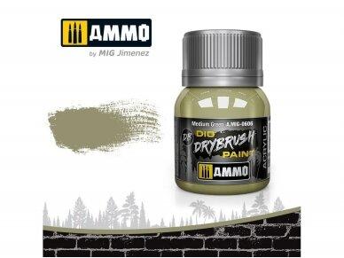 AMMO MIG - DRYBRUSH Medium Green, 40ml, 0606
