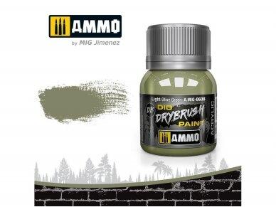 AMMO MIG - DRYBRUSH Light Olive Green, 40ml, 0608