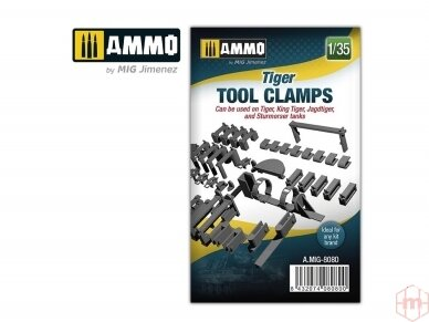 AMMO MIG - Tiger tool clamps, 1/35, 8080