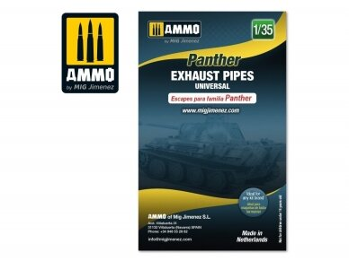 AMMO MIG - Panther exhausts pipes universal, 1/35, 8090 2