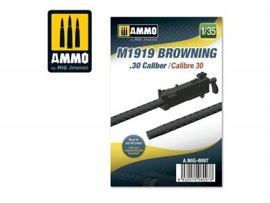 AMMO MIG - M1919 Browning. 30 cal, 1/35, 8097