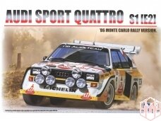 Beemax - Audi Sport Quattro S1 E2 Monte Carlo Rally 1986 su priedais, Mastelis: 1/24, B24017, E24017
