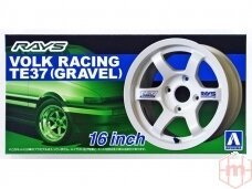 Aoshima - Volk Racing TE37 (Gravel) 16 Inch, Mastelis:1:24, 05250
