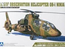 Aoshima - JGSDF Observation Helicopter OH-1 Ninja, Scale: 1/72, 01434