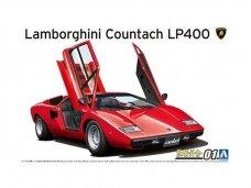 Aoshima - Lamborghini Countach LP400, Mastelis:1/24, 05804